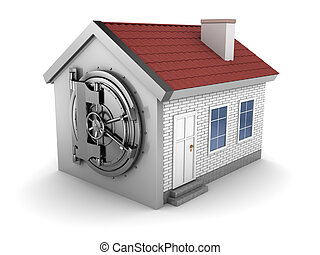 ... house with vaulted door - abstract 3d illustration of house... ...  sc 1 st  Can Stock Photo & Vaulted door Illustrations and Stock Art. 4191 Vaulted door ...