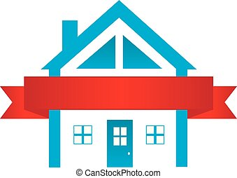 House Wrapped in Red Ribbon logo