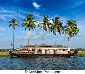 Houseboat on Kerala backwaters, India - Houseboat on Kerala ...