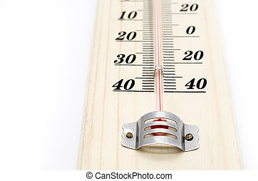 Household alcohol thermometer - Selective focus and close up...