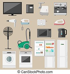 Household appliance - Home household appliance set with...