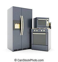 household appliances - picture of household appliances on a...
