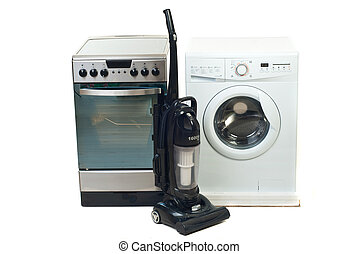 Household appliances - Group of new household appliances...