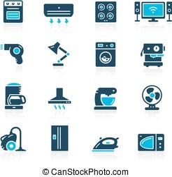 Household Appliances Icon Set // Azure Series