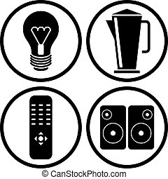 Household appliances icons set 2.