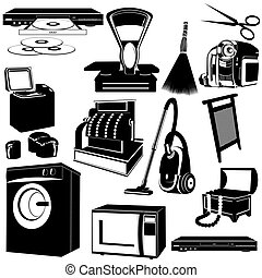 Household appliances - The contours of objects and...