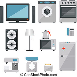 household appliances - vector household appliances icons set...
