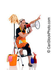 Household, housekeeping - Housewife, woman attenting to ...