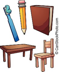 household items - Household items. Vector clip art...