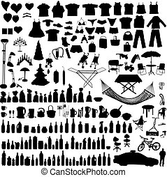 Household items set - Miscellaneous household, clothes and...