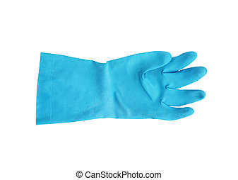 household protective rubber glove isolated on white...