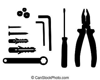 household tool silhouette illustration