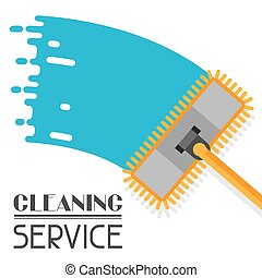 Housekeeping background with mop. Image can be used on ...