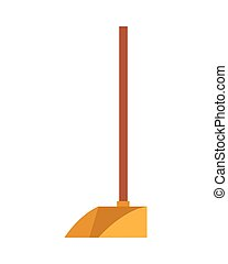 housekeeping dustpan tool isolated icon vector illustration design