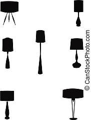 houselamps, 在, retro風格