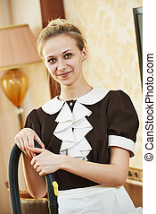 housemaid portrait at hotel service