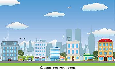 houses., 横列
