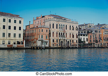 Houses and Commercial buildings on the Grand Canal in Venice
