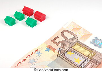 Houses and Money on white - Some Houses and money isolated...