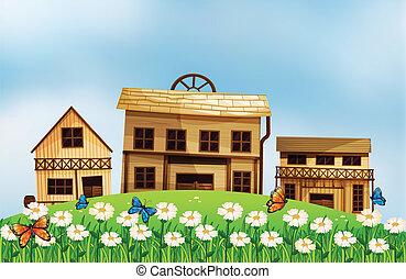 Houses at the hillside