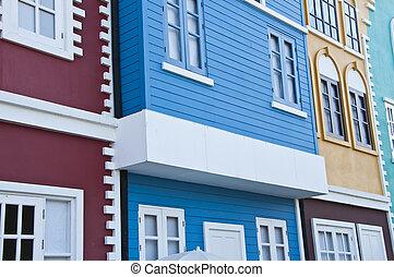 houses., bunte