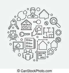 Houses for sale illustration