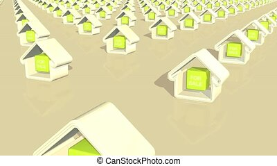 Houses For Sale Loop HD - Computer generated animation of...