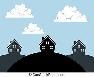 Houses Hills