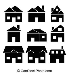 Houses icons set.