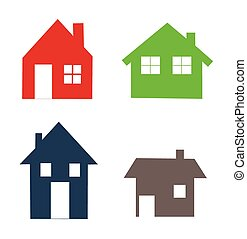 Houses icons set