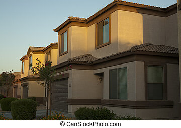 Houses in Community - Two-storied houses in community in...