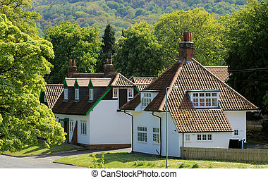 Houses in English village