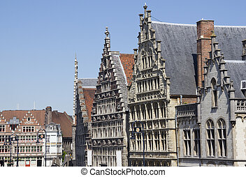 Houses in Ghent, Belgium