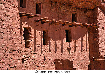 Houses in Manitou Cliff Dwellings in Manitou springs colorado. Vacation and travel destination