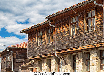 Houses in Old Town of Sozopol, Bulgaria