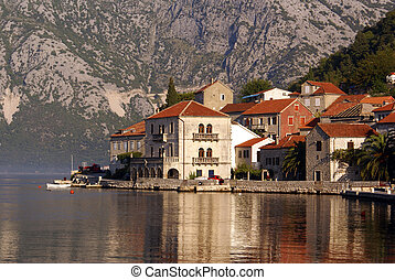 Houses in Perast, Montenegro