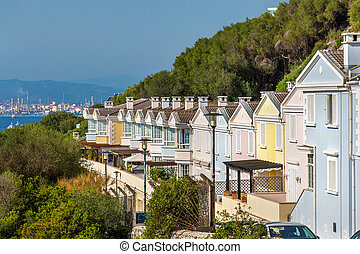 Houses in the city of Gibraltar