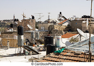 Houses in the old city of Jerusalem.