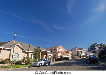 Houses in the suburbs - Houses in a suburban neighborhood