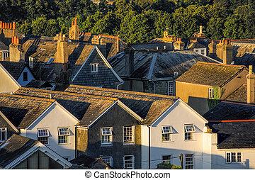 Houses in Totnes, England, United Kingdom