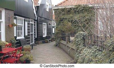 Houses in traditional village Marken, Netherlands - Walk in...