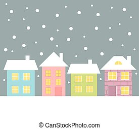 Houses in winter