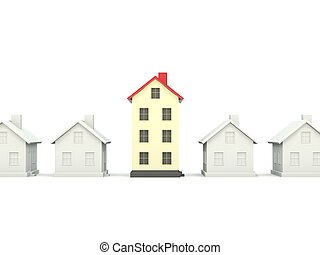 Houses isolated on white