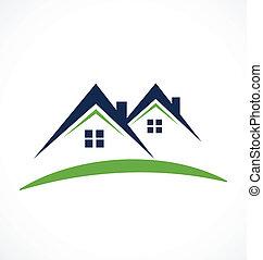 Houses logo business card design