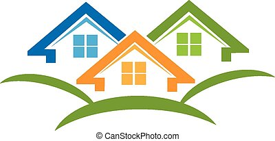 Houses logo business card - Houses icon business card for ...