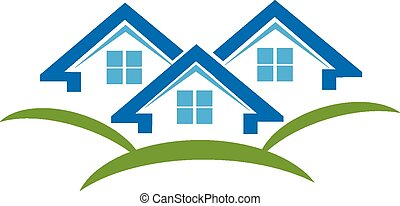 Houses logo business card - Houses icon business card...