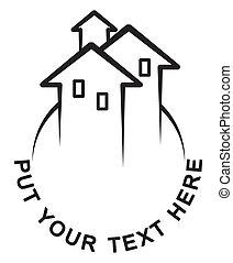 Houses - Logo symbolizes growing real estate market