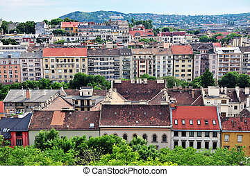 Houses of Budapest city center