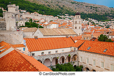 houses of Dubrovnik old town