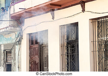 Houses of Havana are being fumigated as a part of the fight against mosquitos carrying zika virus